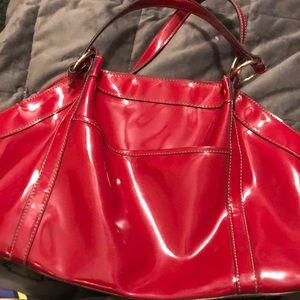 Liz Claiborne bright RED purse! RARE FIND!!!